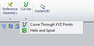 Solidworks Curves Menu